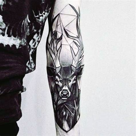 deer tattoo for men abstract deer tattoos for on inner forearm tattoos