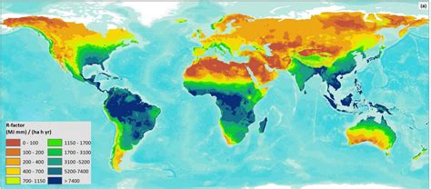 map of the world newman global erosivity map shows differences between climatic