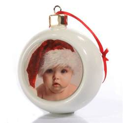 personalised photo christmas bauble the gift experience