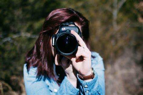 woman photographer  stock photo negativespace
