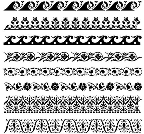 flower pattern vector border free dark lace patterns vector texture titanui
