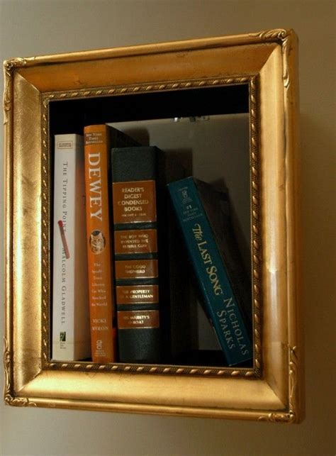 picture frame books illusory picture frame bookshelves diy bookshelf