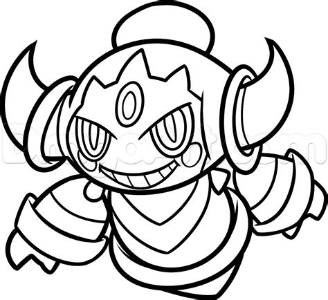 Draw Hoopa From Pokemon Step By Step Drawing Sheets Added By Dawn September 17 2014 5 06 50 Am Drawing For To Color