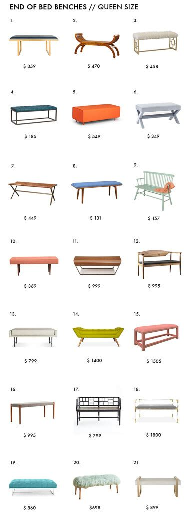 how high should my bed be end of bed benches emily henderson