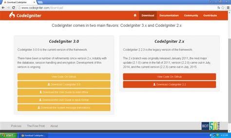 codeigniter setup tutorial belajar instalasi codeigniter laboratorium ict terpadu