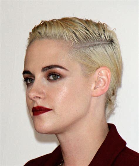 Kristen Stewart Short Straight Casual Pixie Hairstyle