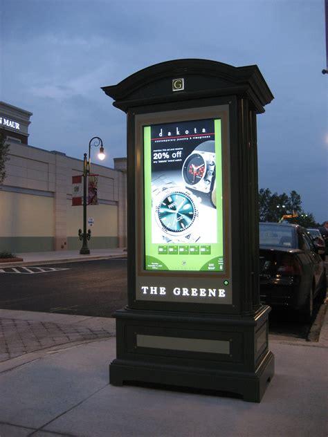 outdoor digital signage directory kiosk installed  heart