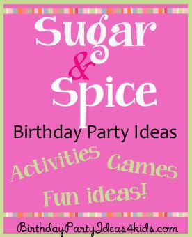 themes n8 cool girl sugar and spice birthday party theme for girls birthday