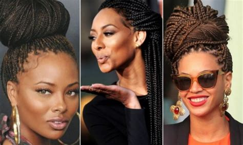 celebrities with box braids how to style your box braids hellobeautiful