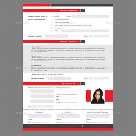Card Preview by Modern Registration Card V 2 By Marufachapu Graphicriver