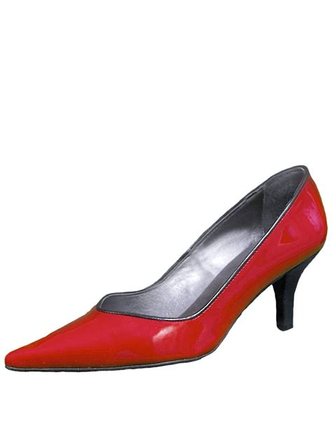 womens low heel court shoes patent leather gucinari