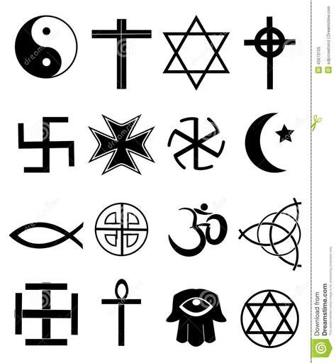 imágenes símbolos religiosos iconos religiosos fijados ilustraci 243 n del vector imagen