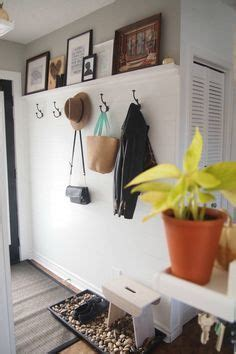 entryway makeover  faux shiplap   diy picture