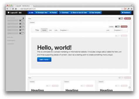 layout it drag and drop with bootstrap yes thetorquemag