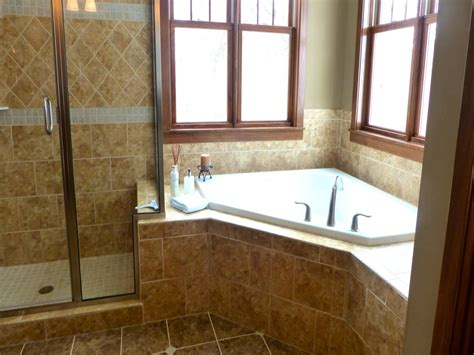 Corner Tub Bathroom Ideas by Bath Tubs Corner Shower Master Bathroom With Corner