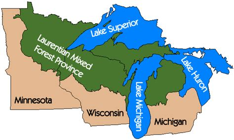 us map states great lakes great lakes map images images