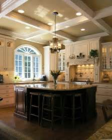 coffered ceiling home kitchen