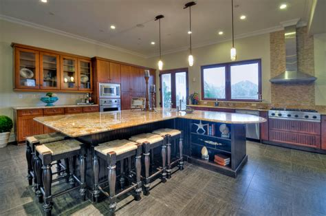 Kitchen island with bar seating and storage the sandcastle