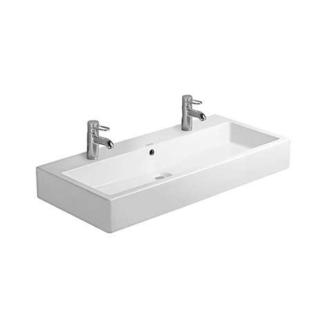 Shower Bath Taps duravit vero white 1000 x 470mm 2 tap hole washbasin