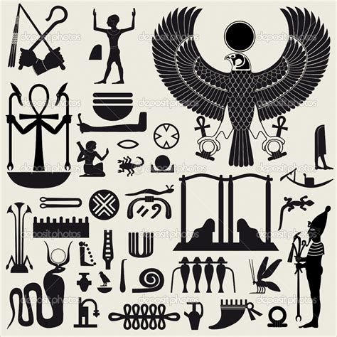 printable egyptian stencils egypt stencils egyptian symbols and sign set 2 stock
