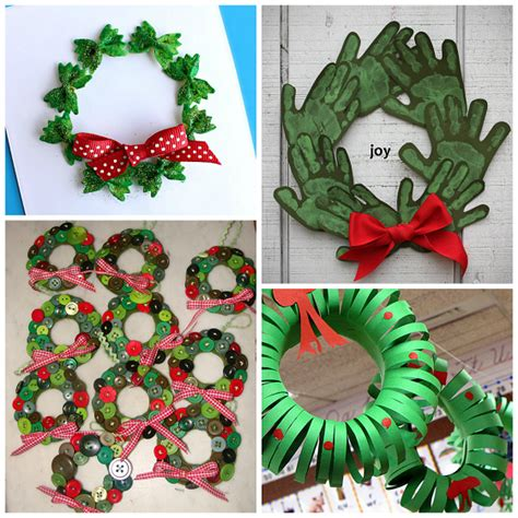 christmas craft ideas for kids wreath craft ideas for crafty morning