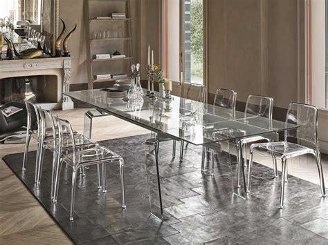 tavolo in cristallo tavolo allungabile in vetro arredo soggiorno