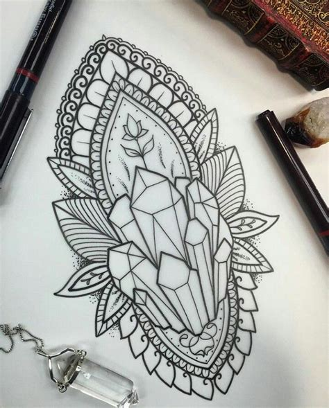 crystal tattoo designs pin by brigette lorang on