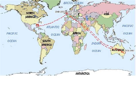 map uk to australia map time line