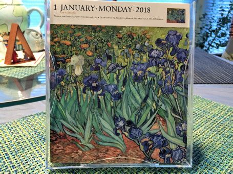 2018 daily diary gogh the starry january 2018 december 2018 lined one page per day journal books 2018 a calendar year roses in the rubble