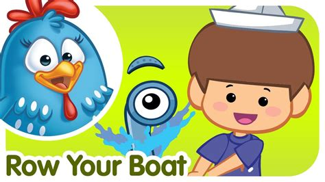row row your boat english rhymes row row row your boat lottie dottie chicken kids songs