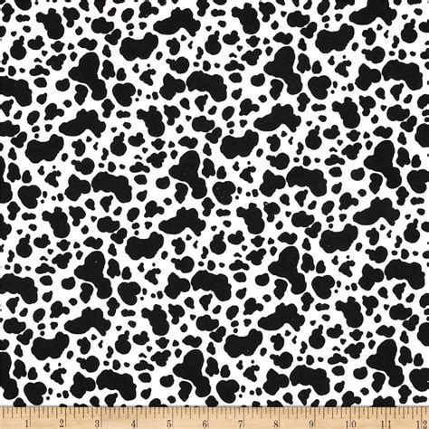 Cow Skin Fabric Flannel Cow Skin White Black Discount Designer Fabric