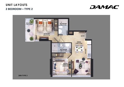 10 Awesome Two Bedroom Apartment 3d Floor Plans - 1 2 bedroom apartment floor plans