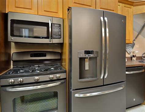 new appliance colors ge new slate finish appliances kitchen other metro