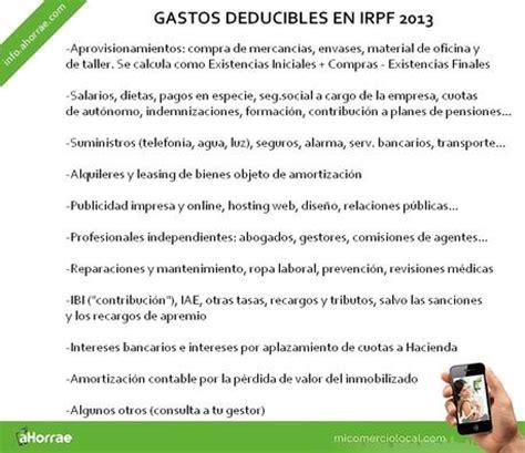 deducibles en educacion tabla gasto ingresos y gastos deducibles en la renta 2013 aut 243 nomos