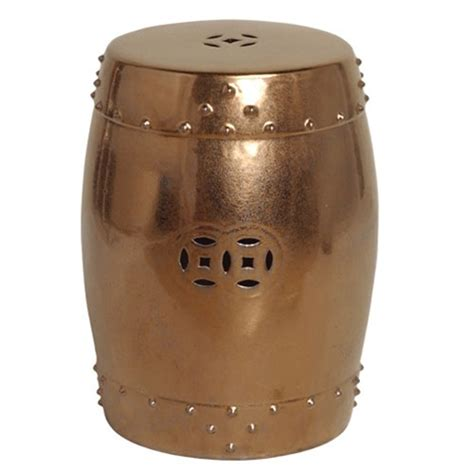 Garden Drum Stool by Emissary 1255gd Drum Garden Stool Gold Large