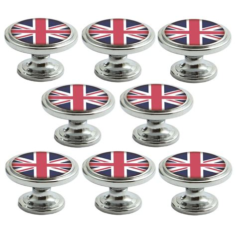 Union Door Knobs by Polished Chrome Knobs Union Flag 38mm Cupboard Drawer