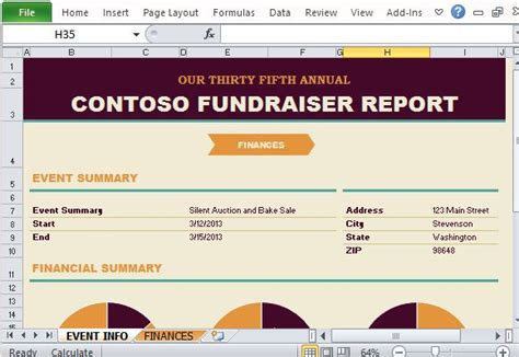 Fundraising Event Report Template