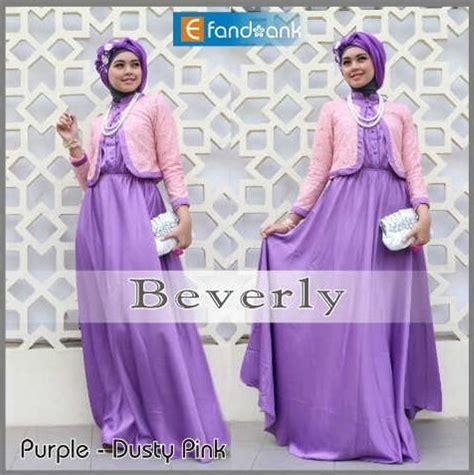 Terlaris Gamis Syari Fatiah Marun Gamis Cantik beverly by efandoank purple baju muslim gamis modern