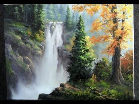 acrylic painting tutorial landscapes how to paint a trail by a beautiful lake at sunset in