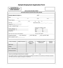 sle employment application forms 12 free documents