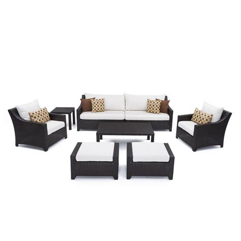 rst brands deco 8 piece patio sofa and club chair deep