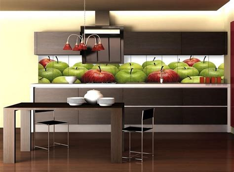 Ideas Para Decorar Dormitorio #7: Losas-manzanas-estampa-pared-cocina-moderna2.jpg