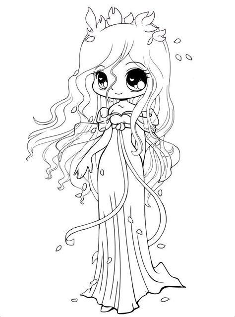 girl template coloring page comfortable chibi template app photos resume ideas
