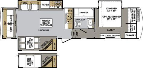 fifth wheel cer floor plans 3030rs cardinal 5th wheel floor plans pinterest