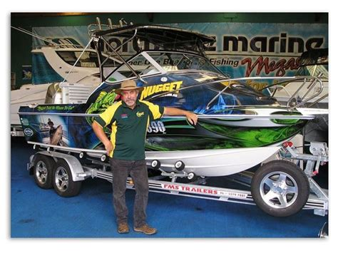 fishing boat names australia dave downie s nugget fishing boat a custom boat wrap by
