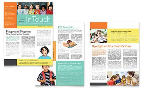 school newsletter layout design free newsletter templates download free newsletter designs