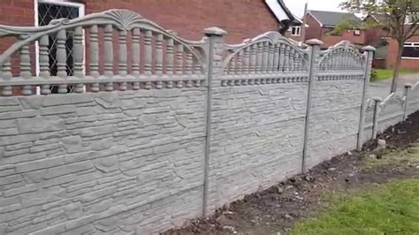 decorative panel fence p a fencing decorative concrete fence panels york youtube