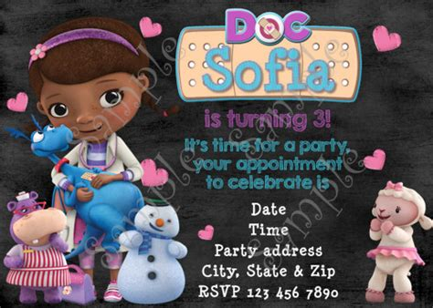 doc mcstuffins thank you card template doc mcstuffins birthday invitation free thank you