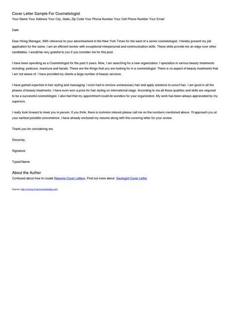 Esthetician Cover Letter   http://www.resumecareer.info