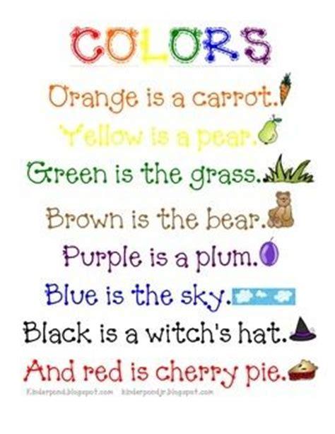 poems about colors 1000 ideas about color unit on preschool